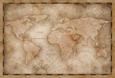 Tappningvärldskartaillustration som baseras på bilden som möbleras av NASA royaltyfria bilder