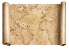 Tappningvärldskartasnirkel som isoleras på vit Baserat på bilden som möbleras från NASA arkivbilder