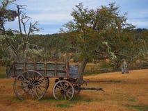 Tappningvagn ut ur tid arkivbild