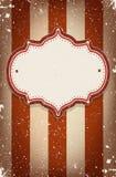 Tappningvektorcirkusen inspirerade ramen med ett utrymme för text Royaltyfri Foto