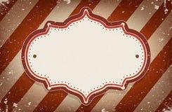 Tappningvektorcirkusen inspirerade ramen med ett utrymme för text Fotografering för Bildbyråer