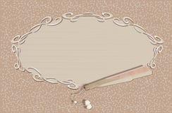 Tappningventilator och förälskelsebokstav (vektorn) Royaltyfri Bild
