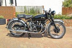 Tappningvincent motorcykel 1949 Arkivbilder