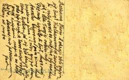 Tappningvykort med det handskrivna meddelandet Royaltyfri Bild