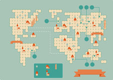 Tappningworldmap stock illustrationer