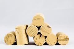 Tappo della bottiglia di vino su fondo bianco fotografia stock