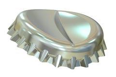 Tappo di bottiglia del metallo, rappresentazione 3D Fotografia Stock