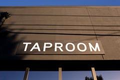 Taproom Sign at Bar Royalty Free Stock Image