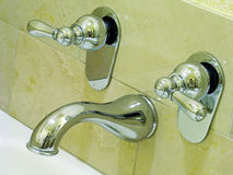 Taps for hot and cold water Royalty Free Stock Images
