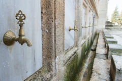 Taps of mosque Stock Image