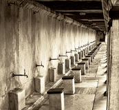 Taps outside Mosque for ritual purification Royalty Free Stock Photography