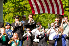 Taps150 Buglers at Arlington National Cemetery Royalty Free Stock Photos