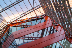 tapume Placas de metal janelas dobro-vitrificadas imagem de stock royalty free