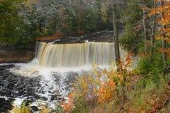 Taquamenon Falls. Taquamenon Waterfall in UP Michigan Stock Photography