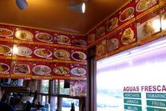 Taqueria食物和饮料选择 库存照片