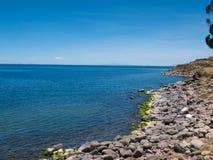 Taquile海岛和的喀喀湖,普诺大区,秘鲁 图库摄影