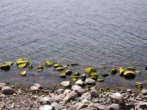 从Taquile海岛,普诺大区,秘鲁的喀喀湖 库存图片