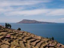 Taquile海岛,普诺大区,秘鲁 库存图片