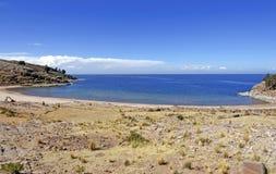 taquile海湾的海岛 图库摄影