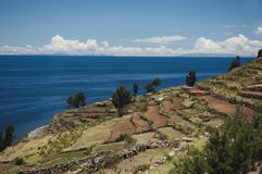 taquile的海岛 图库摄影