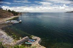 Taquile Hafen Stockfotografie