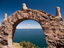 Taquile Insel auf See Titicaca Lizenzfreie Stockbilder