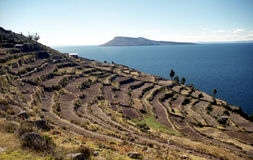 Taquile island royalty free stock photography