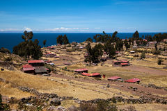 Taquile Island stock photo