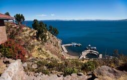 Taquile Island stock image