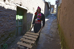 Taquile island, Titicaca lake, Peru Royalty Free Stock Photo