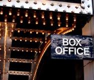 Taquilla del teatro Foto de archivo libre de regalías