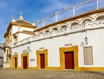 Taquillas de Plaza de Toros de Sevilla imágenes de archivo libres de regalías