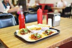 taquitos för slapp tacos för alpastor Arkivfoto