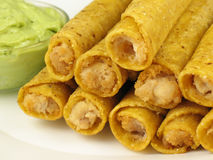 Taquitos and Guacamole 2 Royalty Free Stock Photos