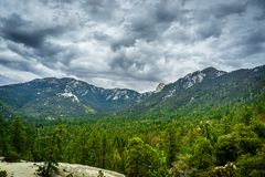 Idylwild View. Taquitz and Marion mountains above Idyllwild California Stock Photo