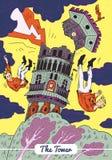 Tarô - o cartão da torre ilustração royalty free