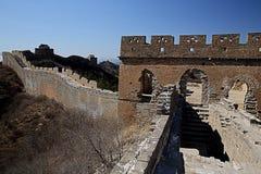 Stor vägg för Mutian dal av Kina Arkivbild