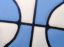 Tar Heel Blue. Close up of a basketball in blue and white Royalty Free Stock Image