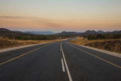 Tar road in South Africa Royalty Free Stock Image