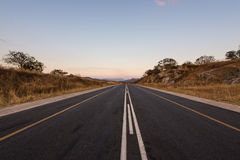 Tar road in South Africa Stock Images