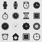 Tar tid på symboler royaltyfri illustrationer