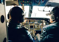 Tara Air Kathmandu aan Lukla-vlucht, Nepal Stock Fotografie