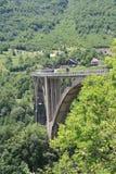 Tara Bridge. Is arch bridge over the Tara River in northern Montenegro Royalty Free Stock Image