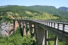 Tara Bridge. Is arch bridge over the Tara River in northern Montenegro Royalty Free Stock Photos