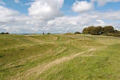 Tara Hill. Hill of Tara, Ireland, the ancient seat of Irish kings stock photography