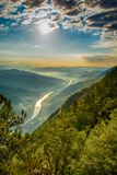 Tara mountain and Drina river canyon landscape.  royalty free stock image