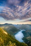 Tara mountain and Drina river canyon landscape.  royalty free stock images