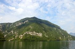 Tara mountain and Drina river canyon. Landscape stock images