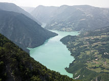 Tara Mountain and Drina rivers. Are located in western Serbia royalty free stock photo