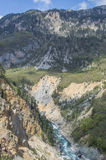 Tara River Canyon Fotografía de archivo libre de regalías